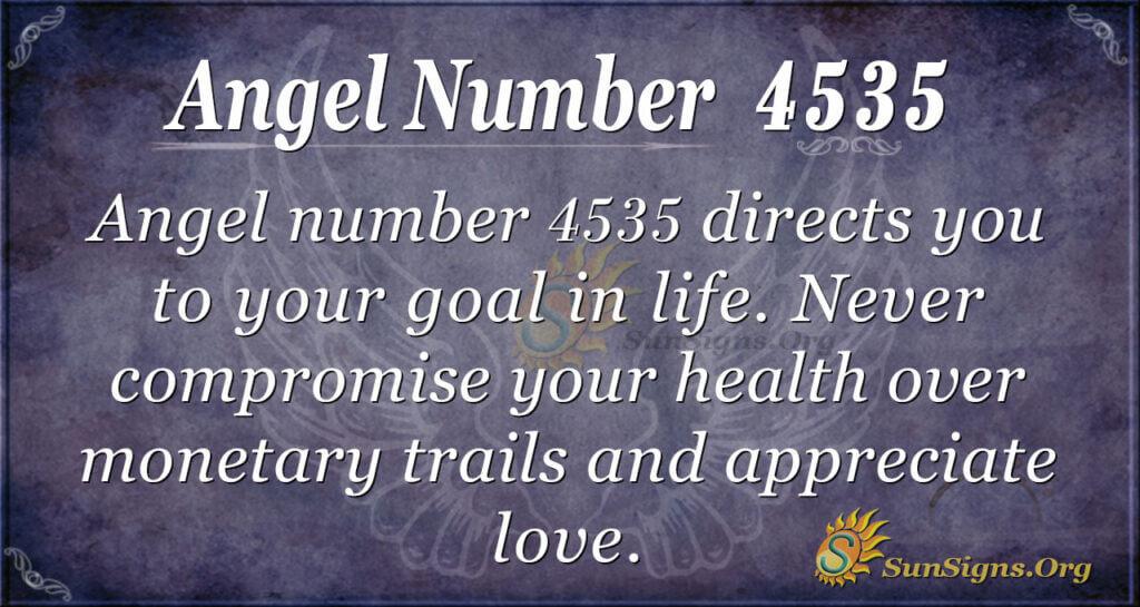 Angel number 4535