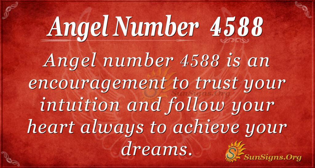 Angel number 4588