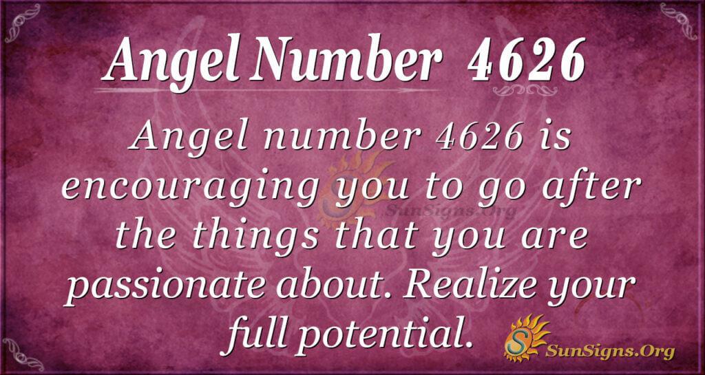 Angel number 4626