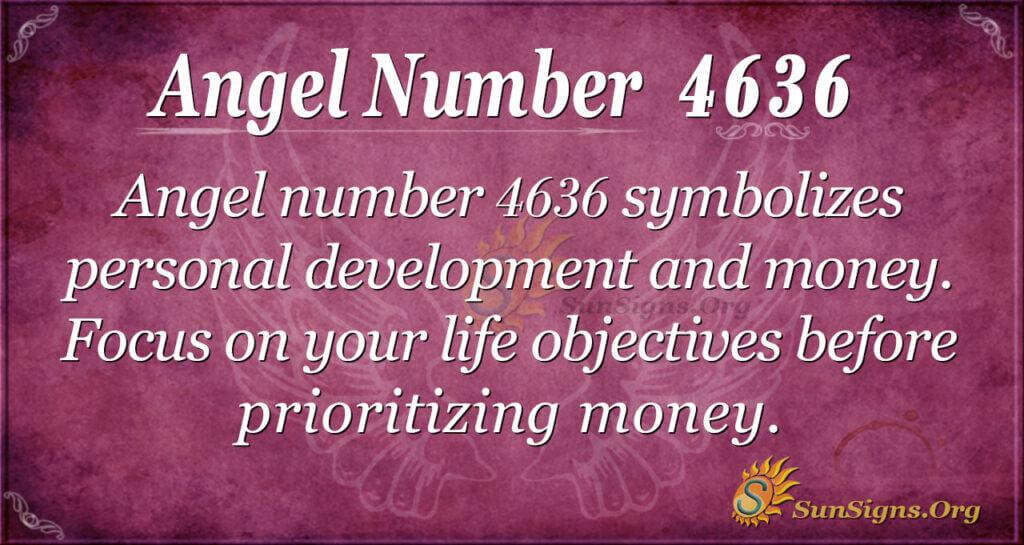 Angel number 4636