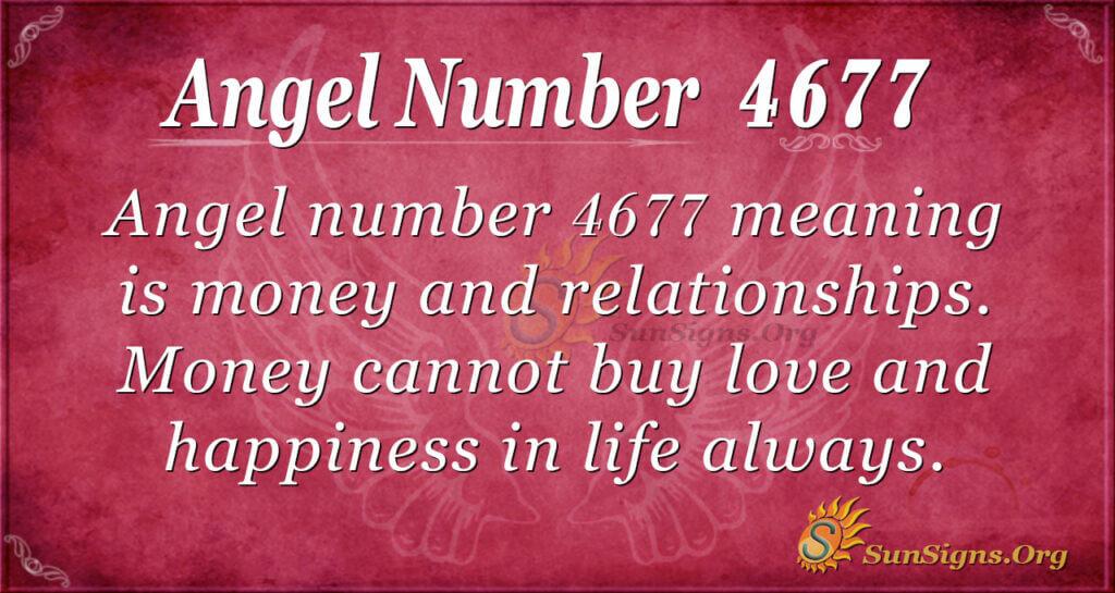 Angel number 4677