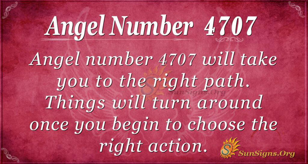 Angel number 4707