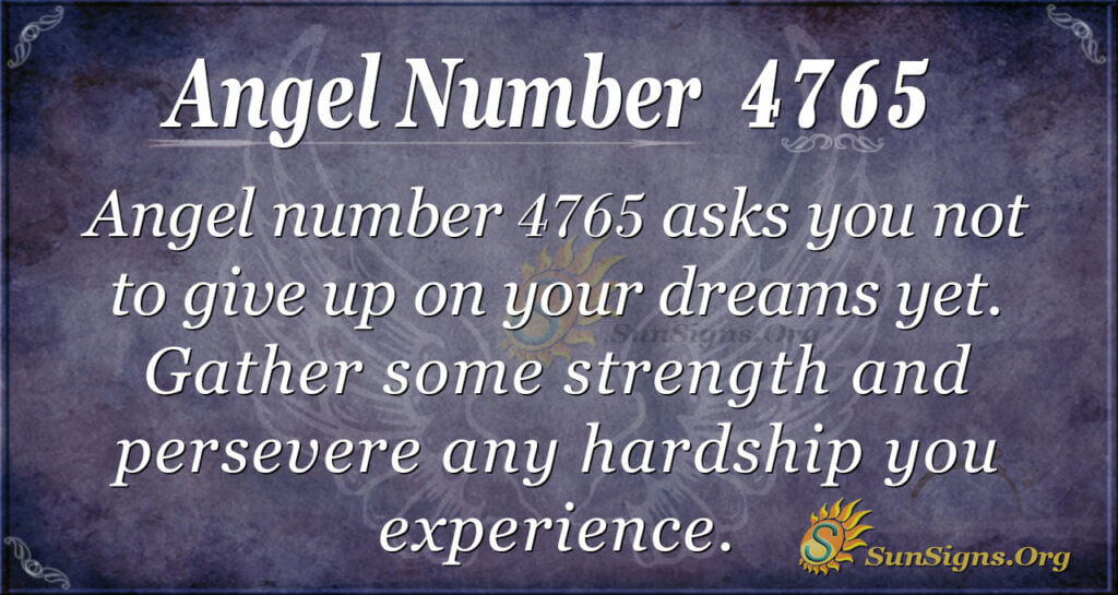 Angel number 4765