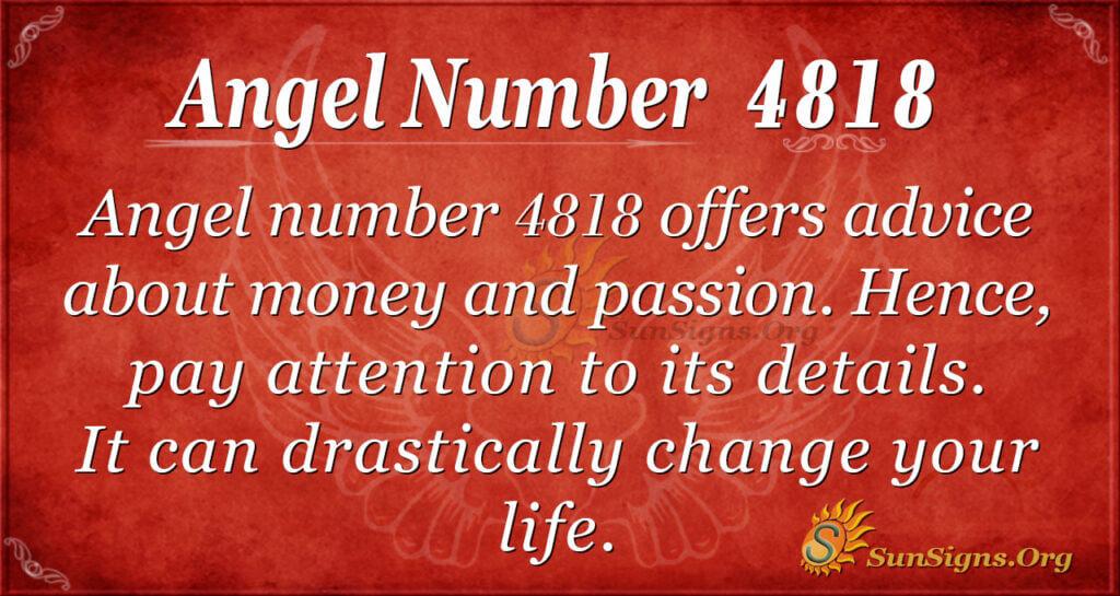 Angel Number 4818