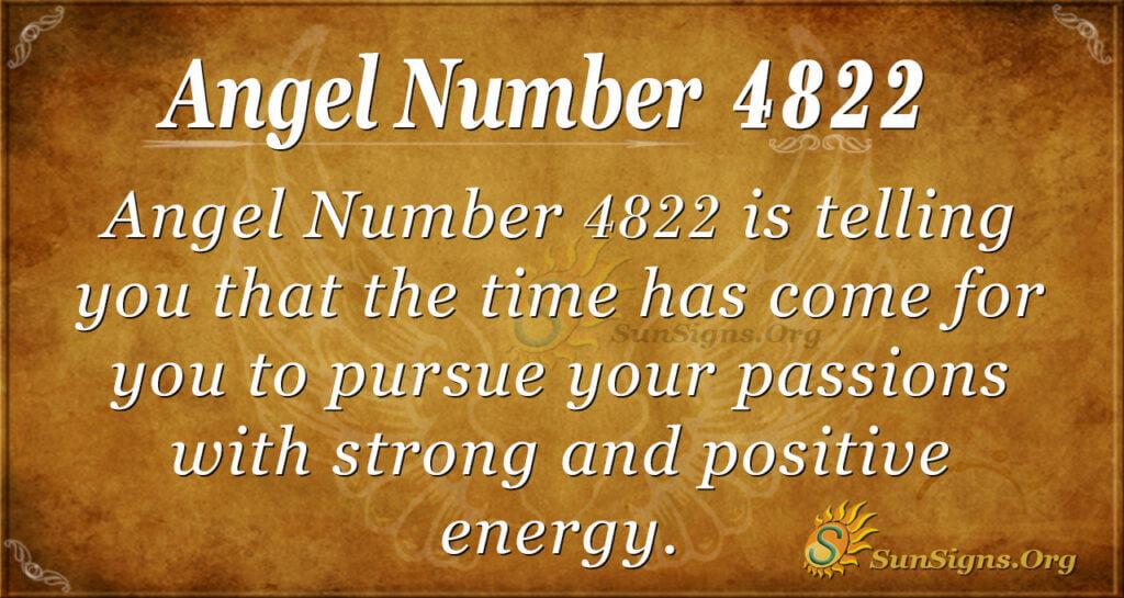 Angel number 4822