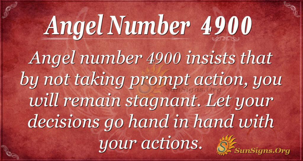 Angel number 4900