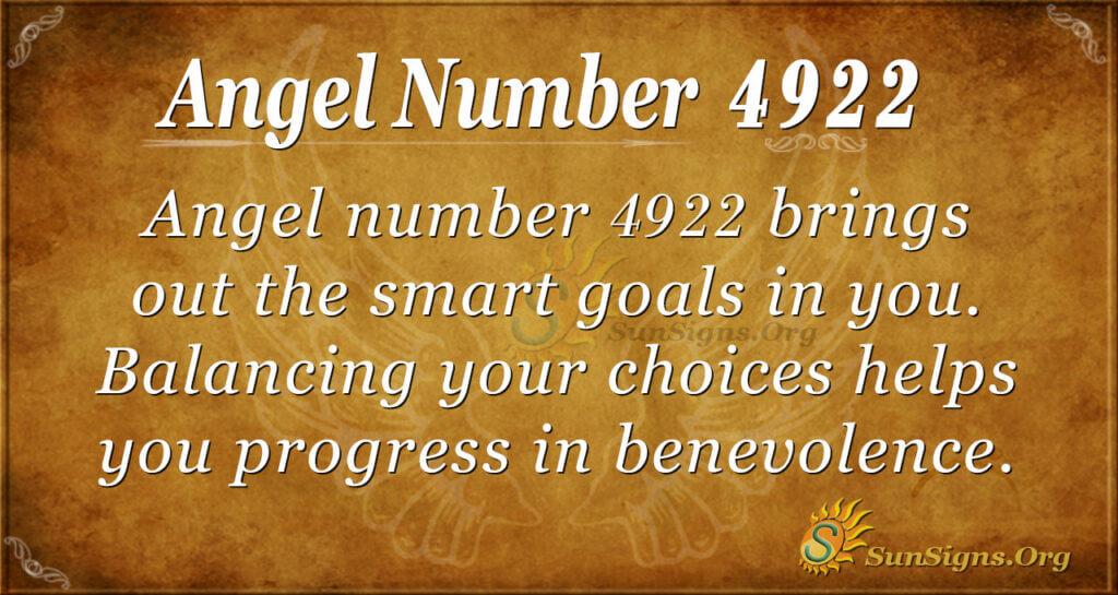 Angel number 4922