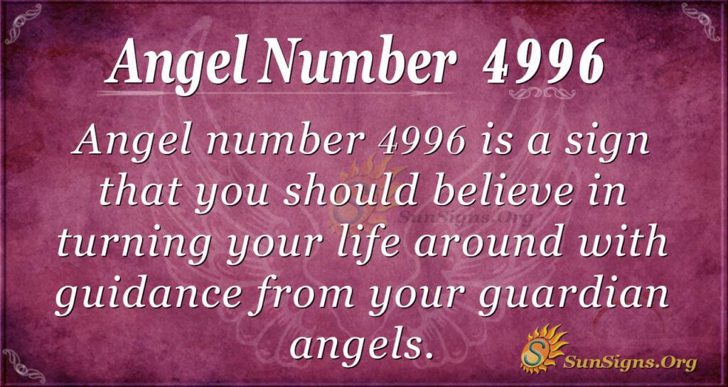 Angel number 4996