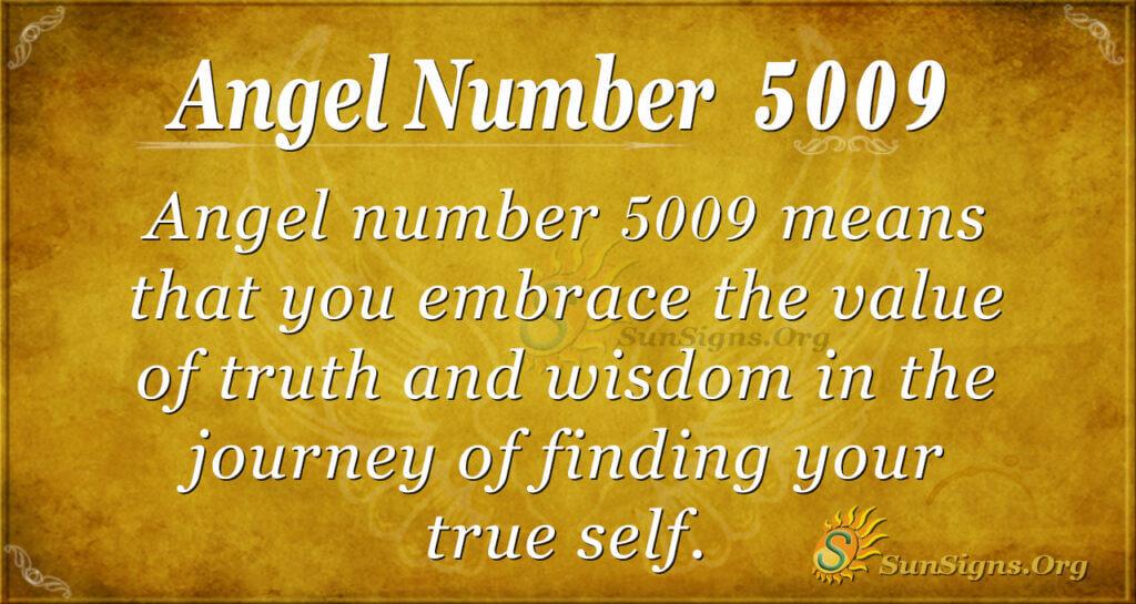 Angel number 5009