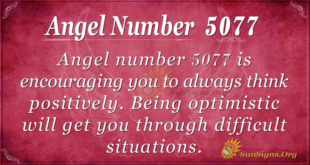 Angel number 5077