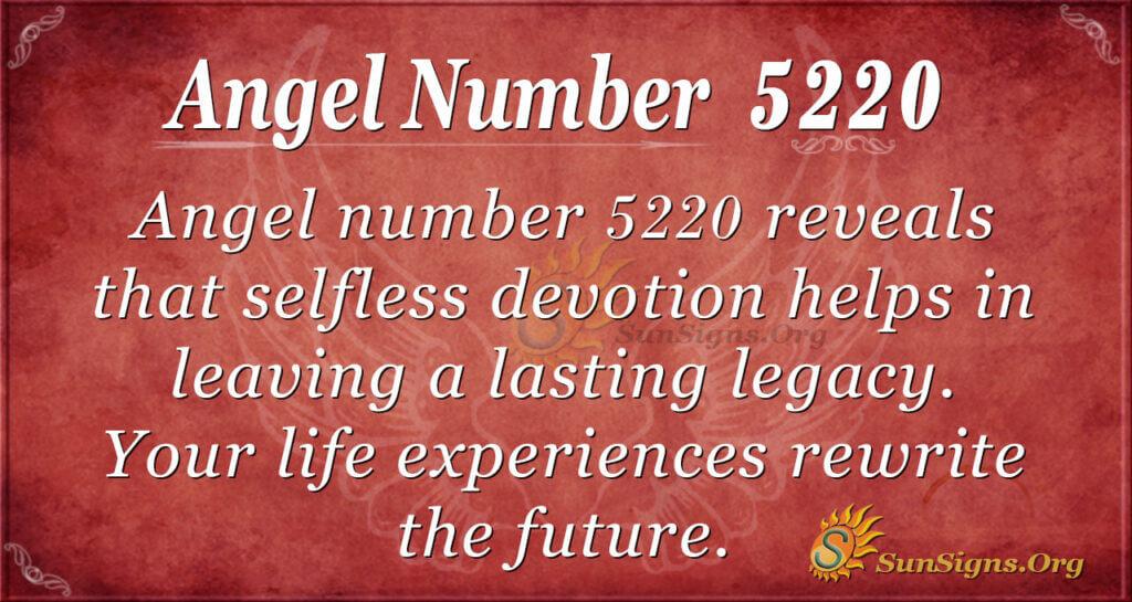 Angel number 5220