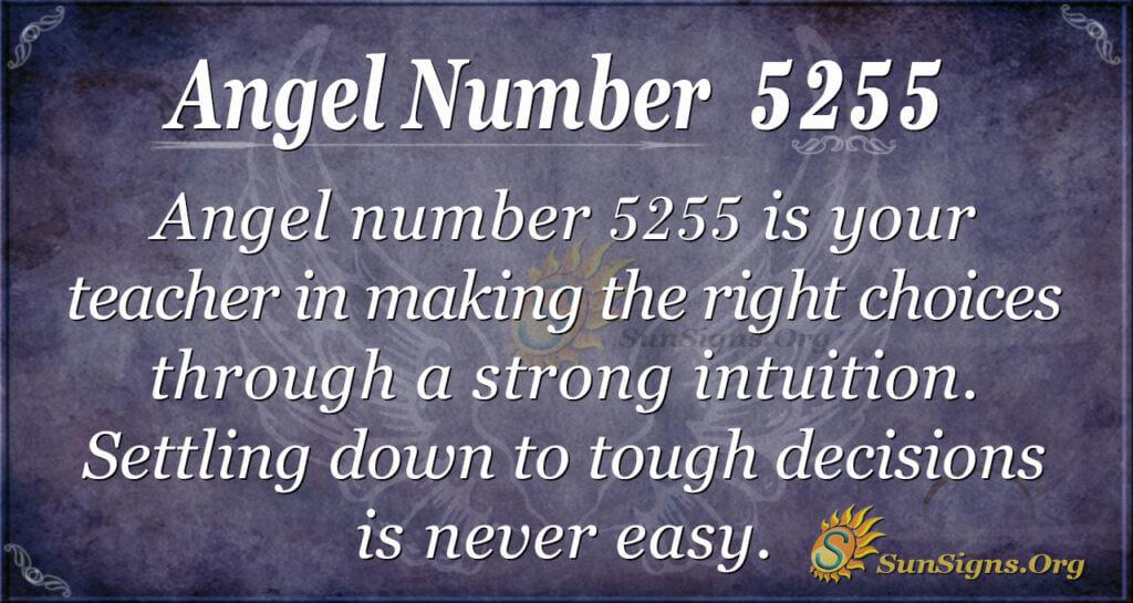 Angel number 5255
