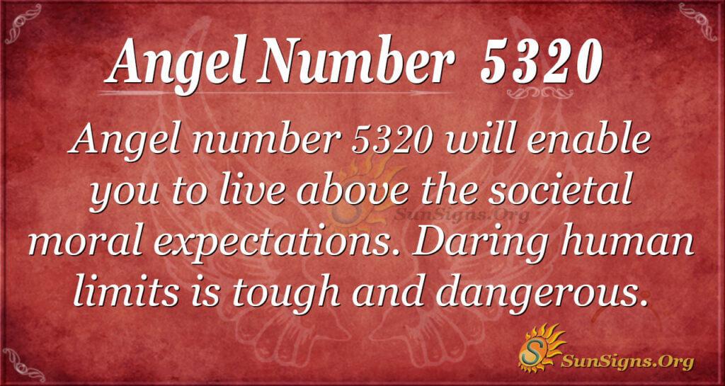 Angel number 5320