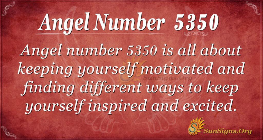 Angel number 5350
