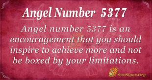 Angel number 5377