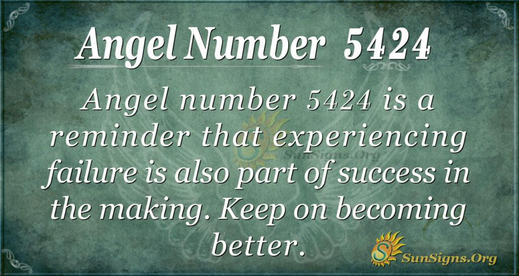Angel number 5424