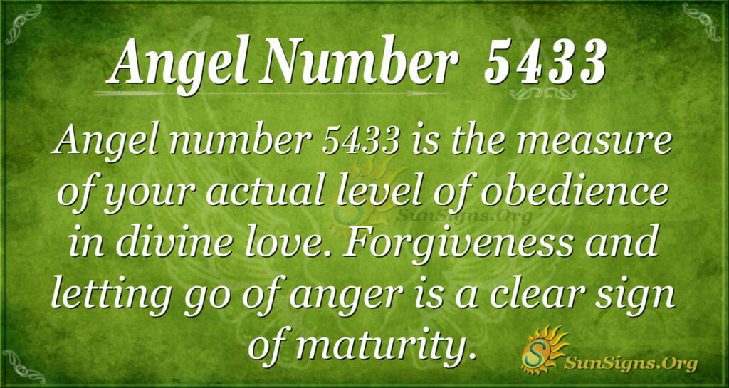 Angel number 5433
