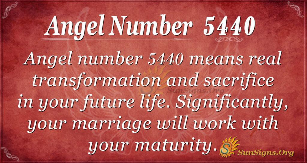 Angel number 5440