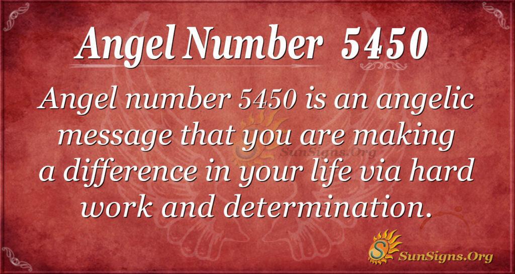 Angel number 5450