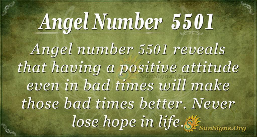 Angel number 5501