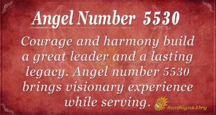Angel number 5530