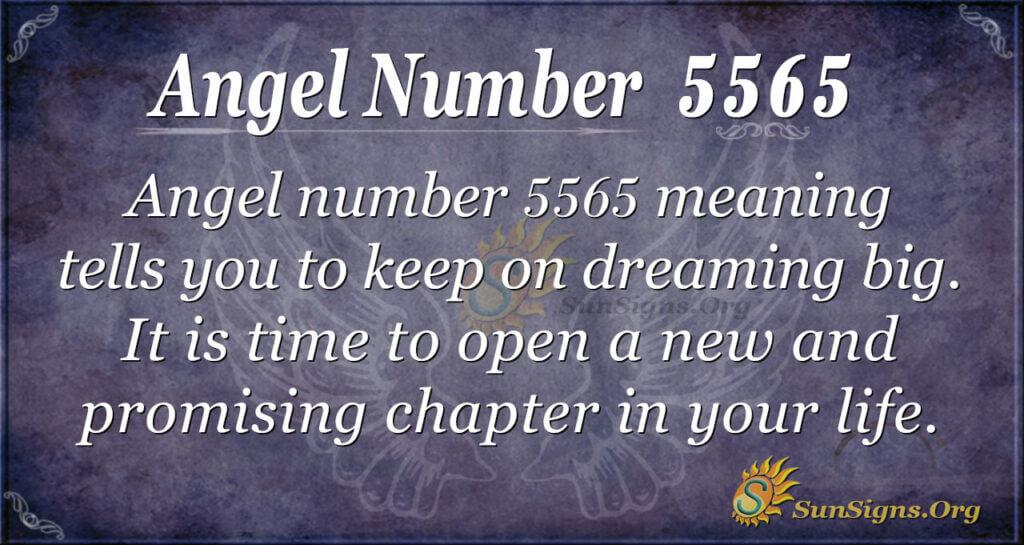 Angel number 5565
