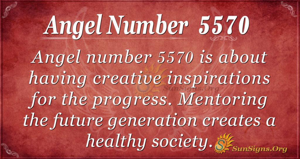 Angel number 5570