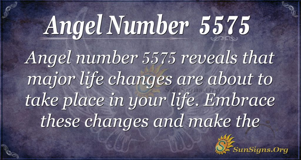 Angel number 5575