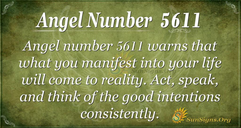 Angel number 5611