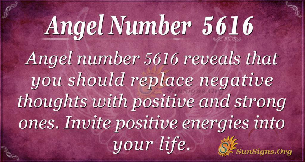 Angel number 5616