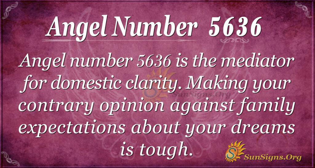 Angel number 5636