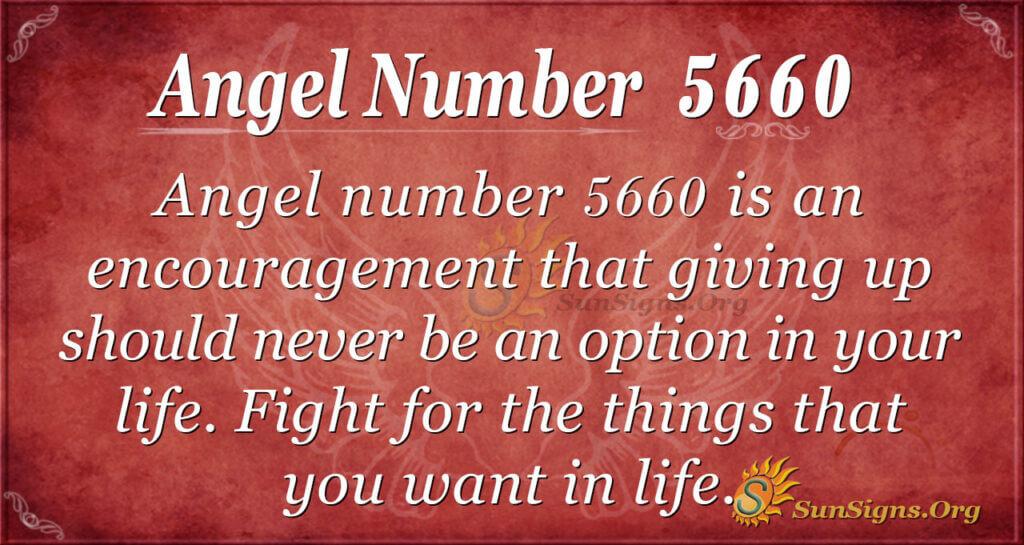 Angel number 5660