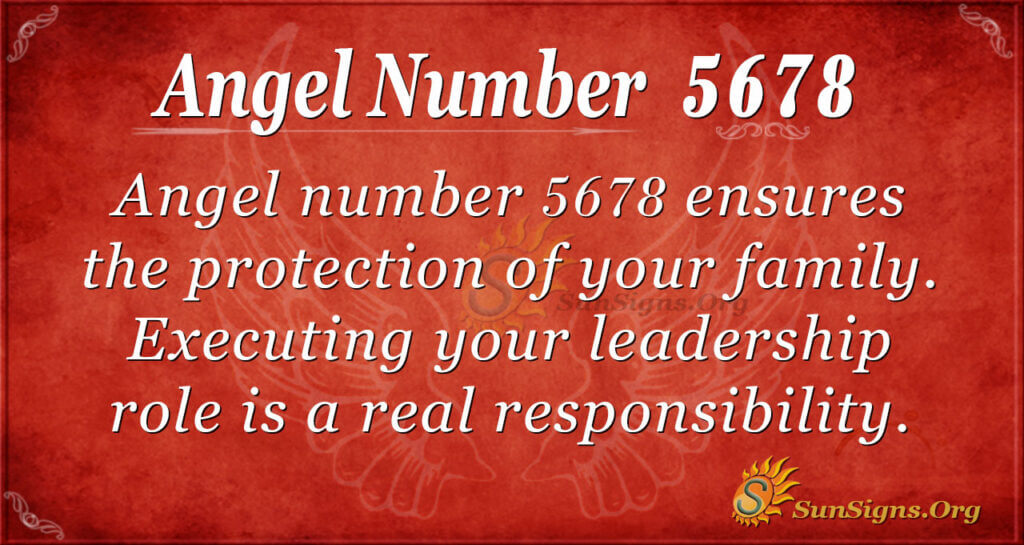 Angel number 5678