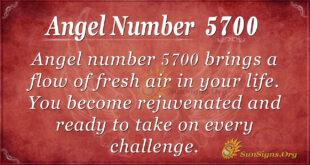 Angel number 5700