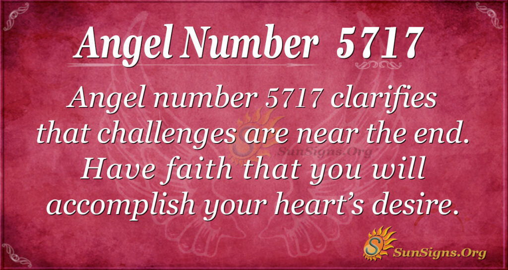 Angel number 5717