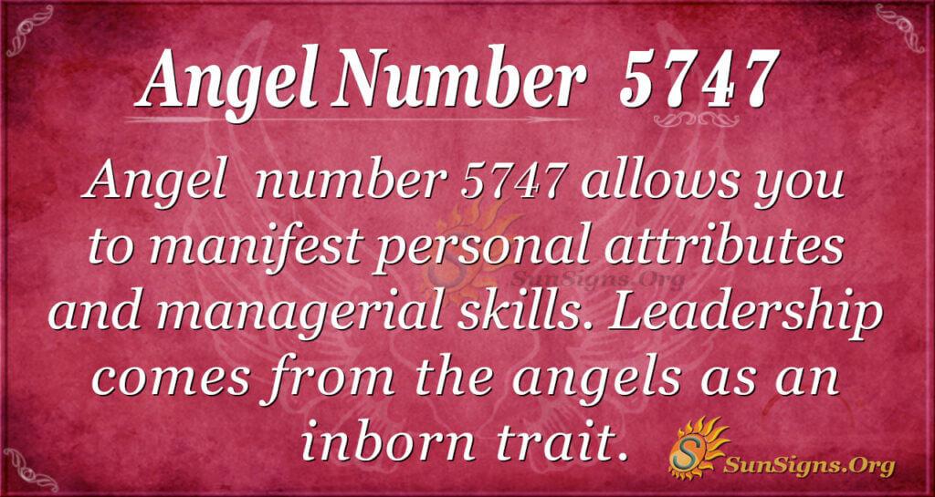 5747 angel number