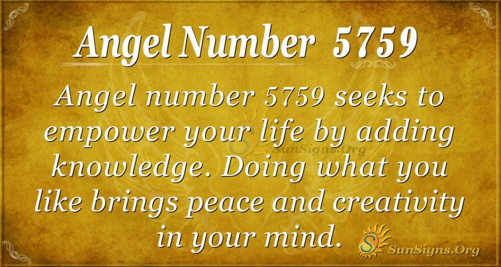 Angel number 5759