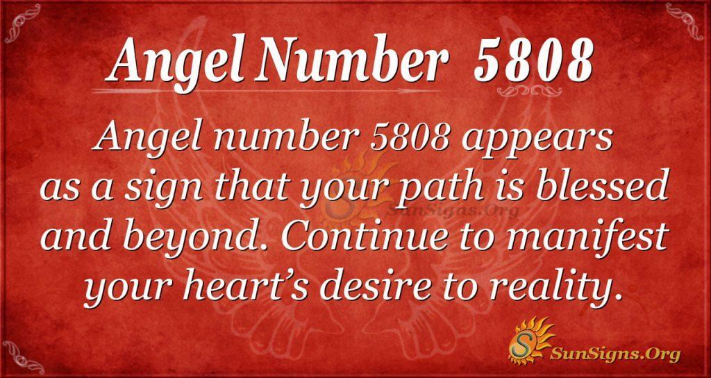 Angel number 5808