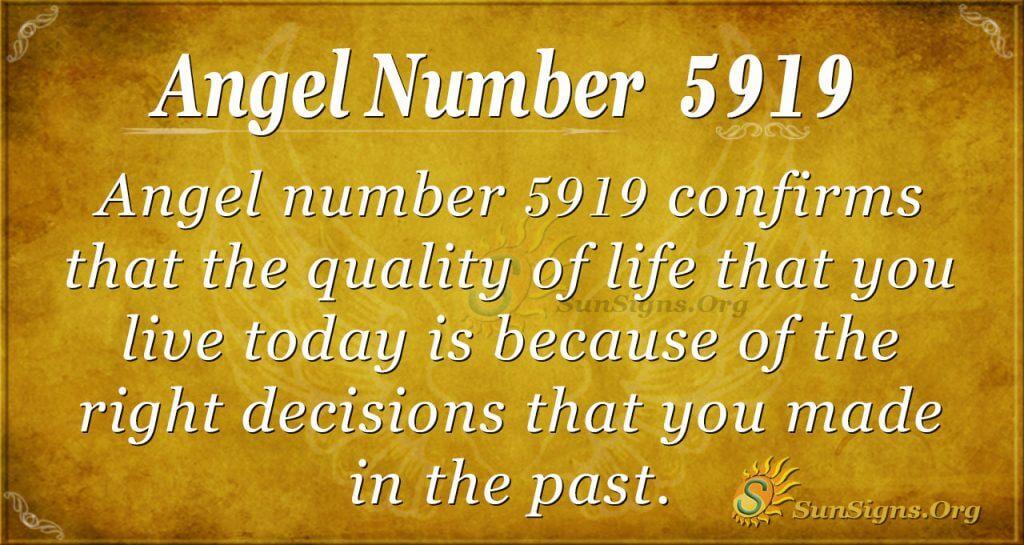 Angel number 5919