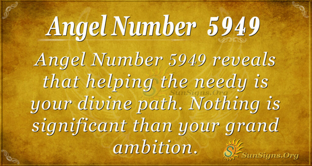 Angel number 5949