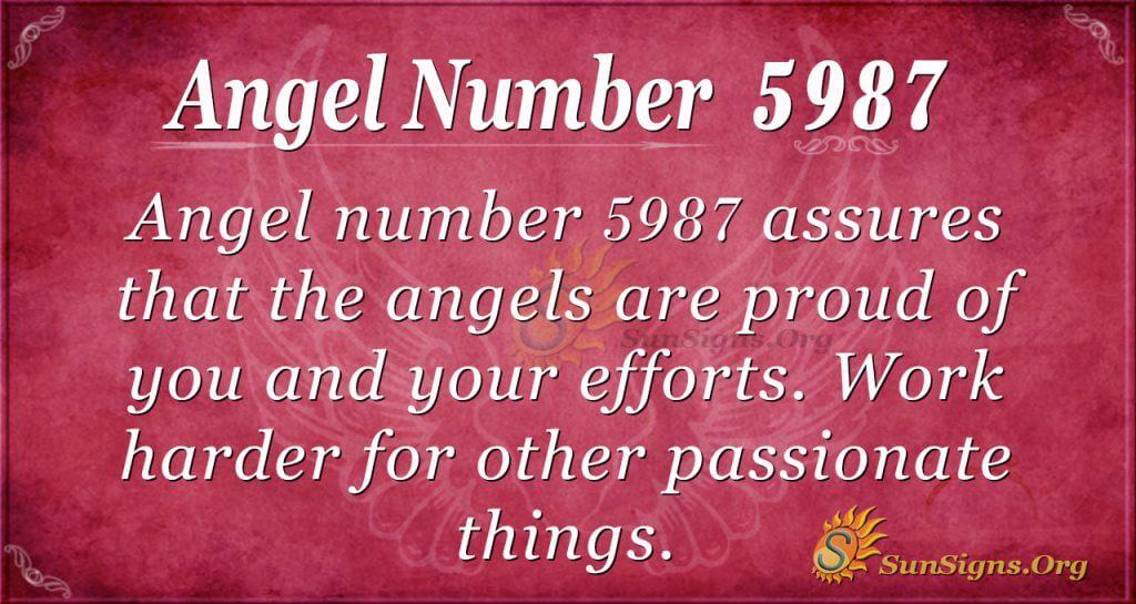 Angel number 5987