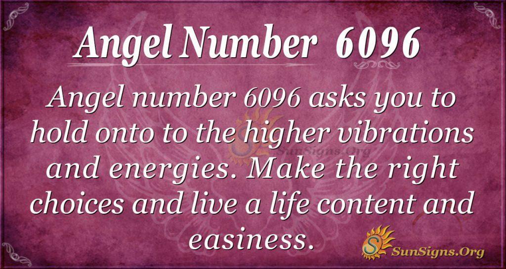 Angel number 6096