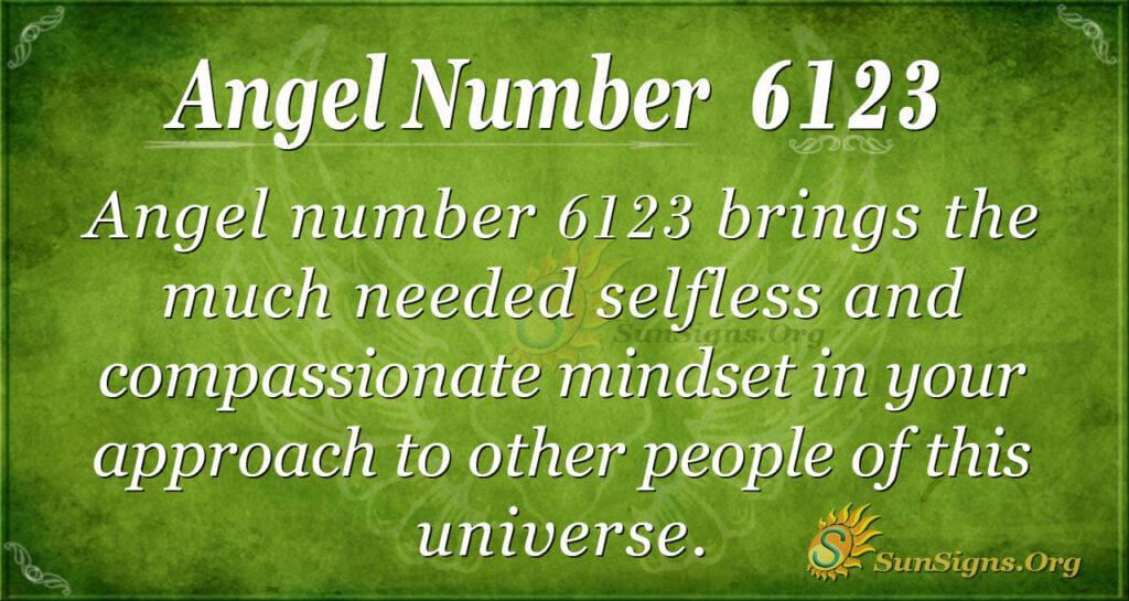 Angel number 6123