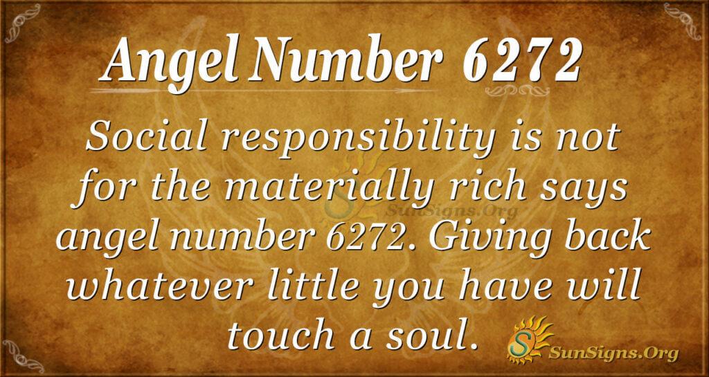 Angel number 6272