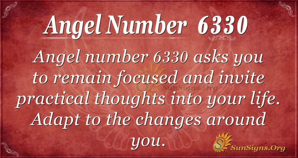 Angel number 6330