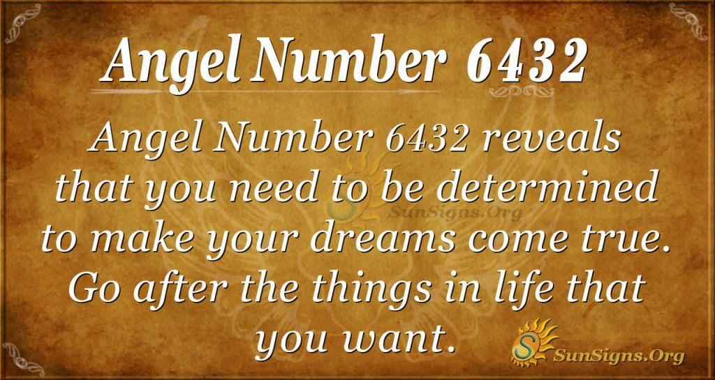 Angel number 6432