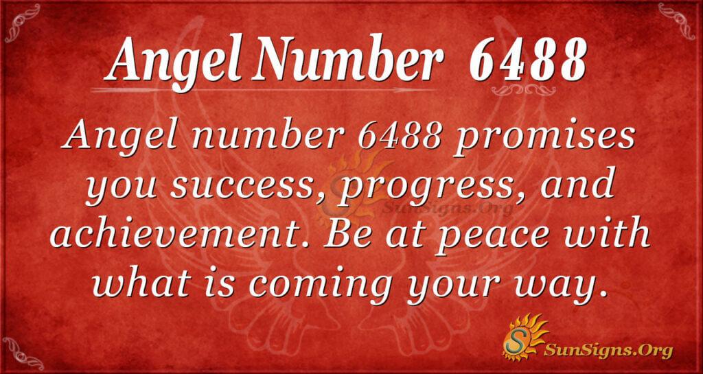 Angel number 6488