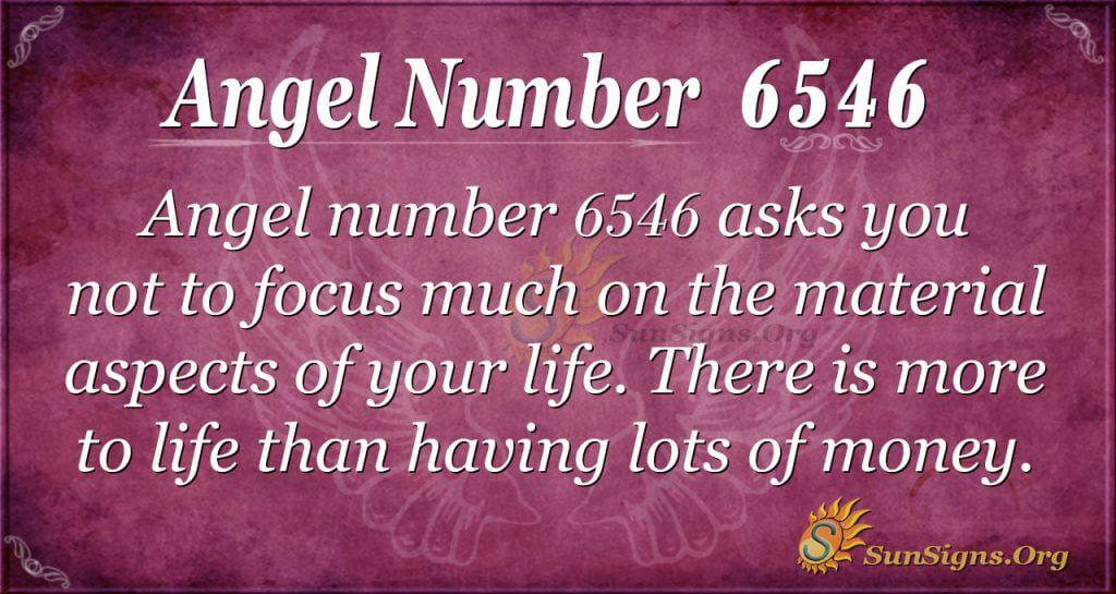 Angel number 6546