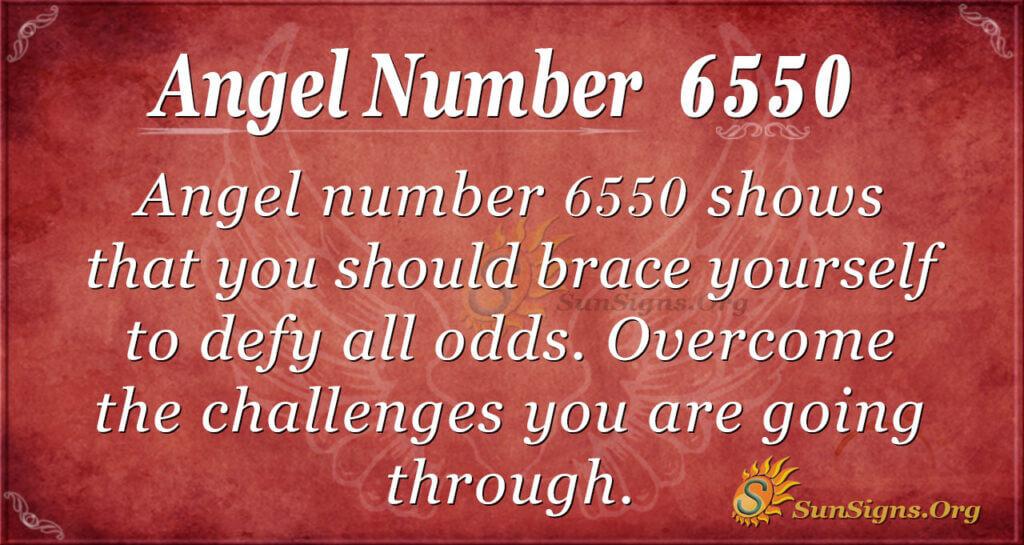 Angel number 6550