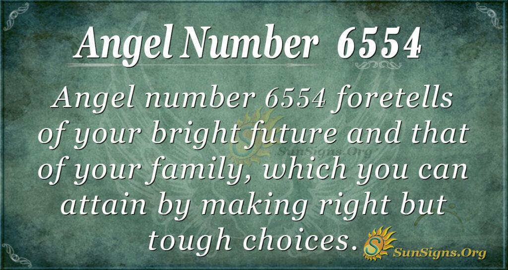 6554 angel number